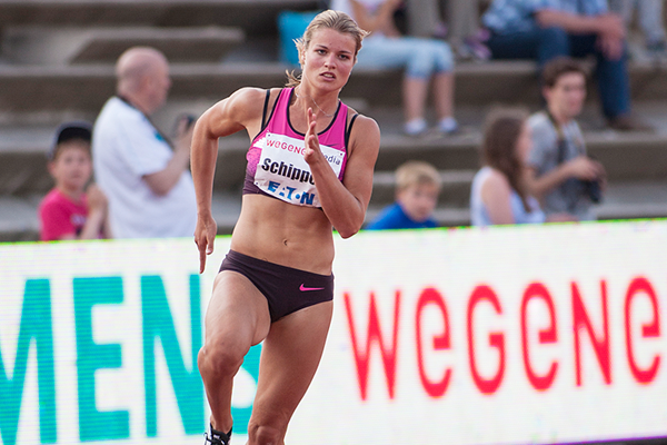 Dafne Schippers in action in the 200m in Hengelo (Getty Images)