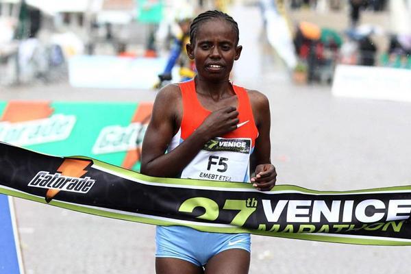 2012 Venice Marathon winner Emebt Etea Bedada (Giancarlo Colombo)