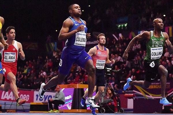 Christian Coleman Roars To 60m Gold At The World Indoor Championships