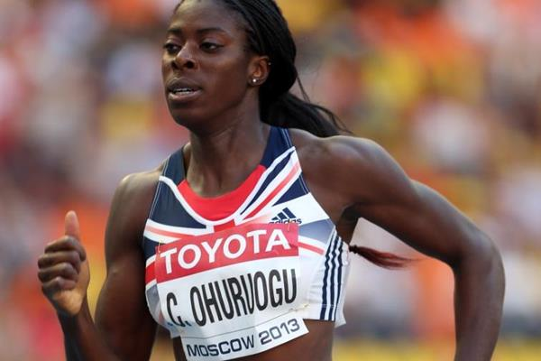 Christine Ohuruogu in the womens 400m at the IAAF World Athletics Championships Moscow 2013 (Getty Images)