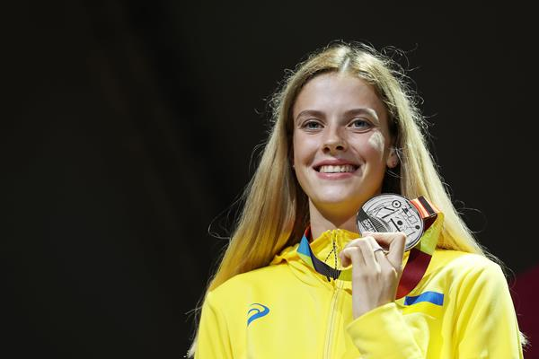 Yaroslava Mahuchikh, high jump silver medallist at the IAAF World Athletics Championships Doha 2019 (Getty Images)