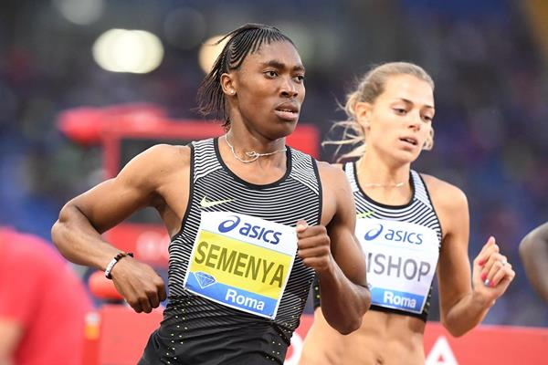 Caster Semenya in the 800m at the 2016 IAAF Diamond League meeting in Rome (Gladys Chai)