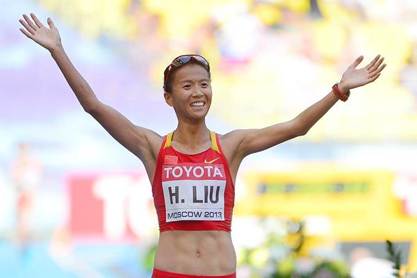 China's Liu Hong in the 20km race walk at the IAAF World Championships (AFP / Getty Images)