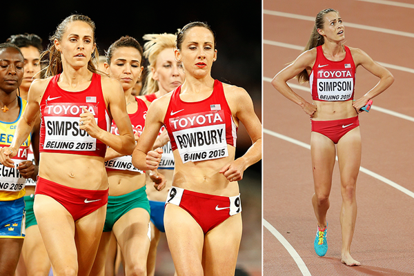 Jenny Simpson in the 1500m at the IAAF World Championships Beijing 2015 (Getty Images)