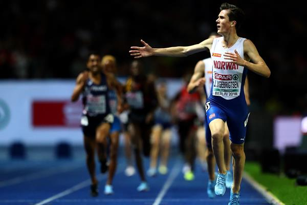 Jakob Ingebrigsten wins the 5000m at the European Championships (Getty Images)