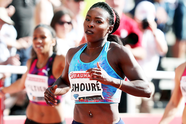 Murielle Ahoure wins the 200m at the IAAF Diamond League meeting in Stockholm (Giancarlo Colombo)