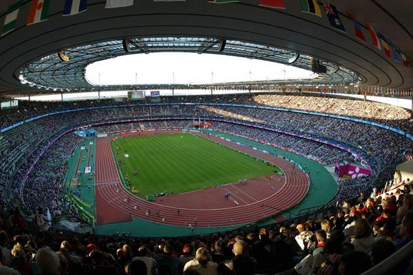 A packed Stade de France during the 9th IAAF World Championships (Getty Images)