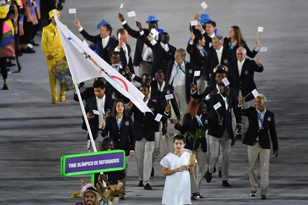 Refugee Olympic Team at the Rio 2016 Olympic Games opening ceremony (Getty Images)