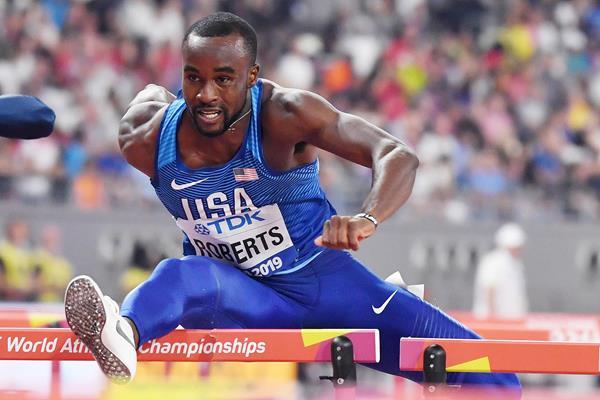 Daniel Roberts at the IAAF World Athletics Championships Doha 2019 (AFP / Getty Images)