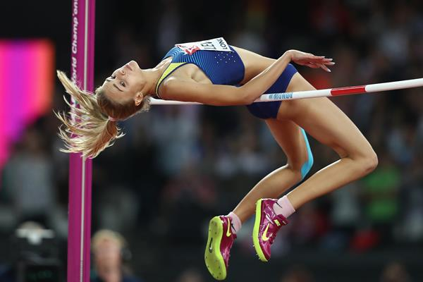 Yuliia Levchenko in action in the jump at the IAAF World Championships London 2017 (Getty)