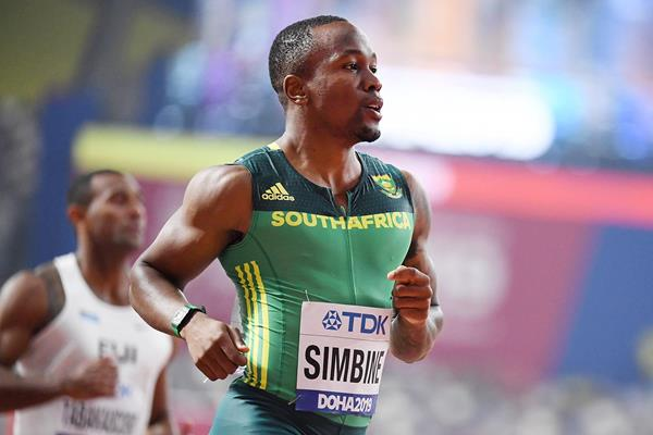Akani Simbine at the IAAF World Athletics Championships Doha 2019 (AFP / Getty Images)