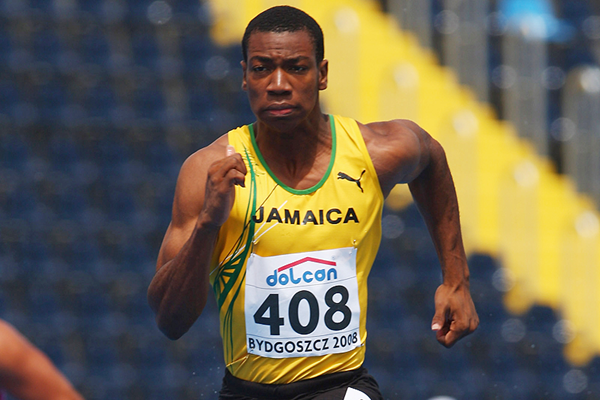 Yohan Blake in the 100m at the IAAF World Junior Championships Bydgoszcz 2008 (Getty Images)