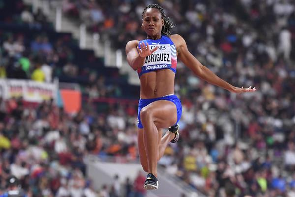 Cuban heptathlete Adriana Rodriguez (AFP / Getty Images)