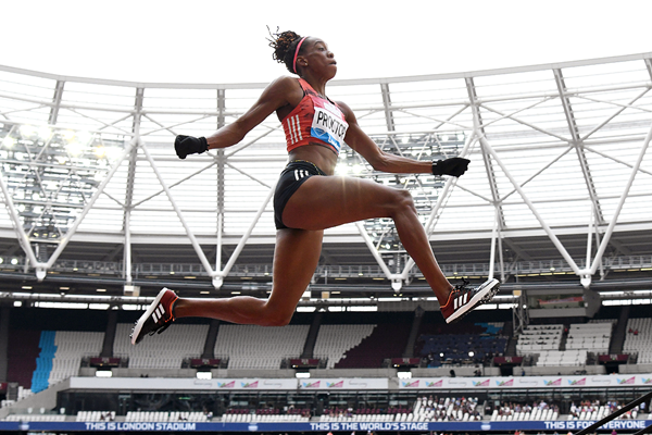 Shara Proctor, winner of the long jump at the IAAF Diamond League meeting in London (Kirby Lee)