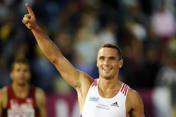 Roman Sebrle celebrates his victory at the 2006 European Championships in Gothenburg (Getty Images)