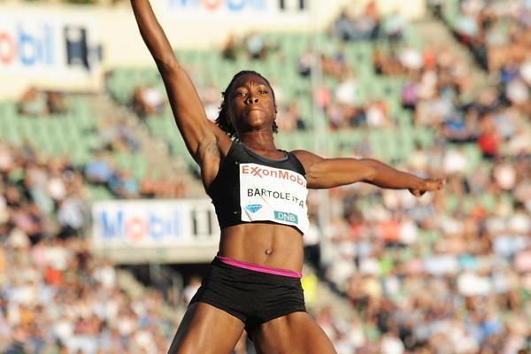 Tianna Bartoletta at the 2014 IAAF Diamond League in Oslo (Mark Shearman)