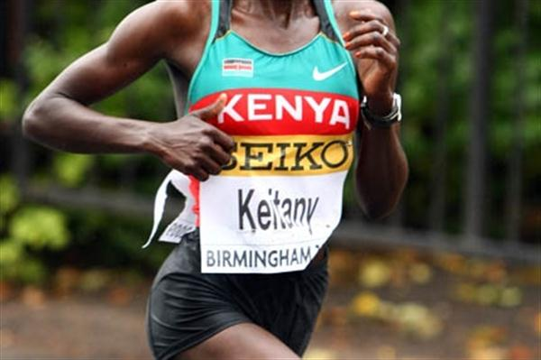 Kenya's Mary Keitany during the IAAF/EDF Energy World Half Marathon Championships in Birmingham (Getty Images)