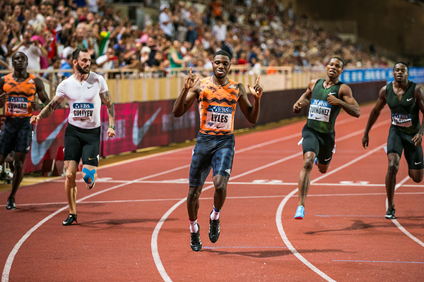 Noah Lyles wins the 200m at the IAAF Diamond League meeting in Monaco (Philippe Fitte)