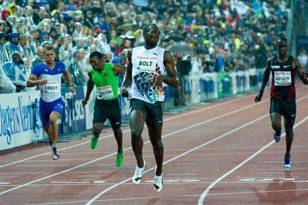 Usain Bolt beats the rain in Oslo - world-leading 19.86 (Hasse Sjögren)