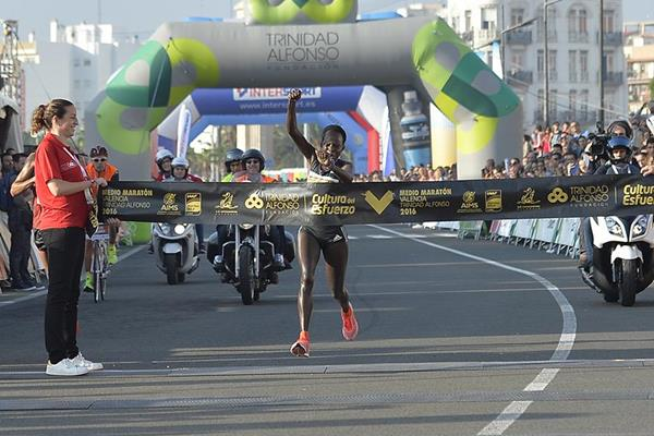 Peres Jepchirchir breaks the course record at the Valencia Half Marathon (Organisers)