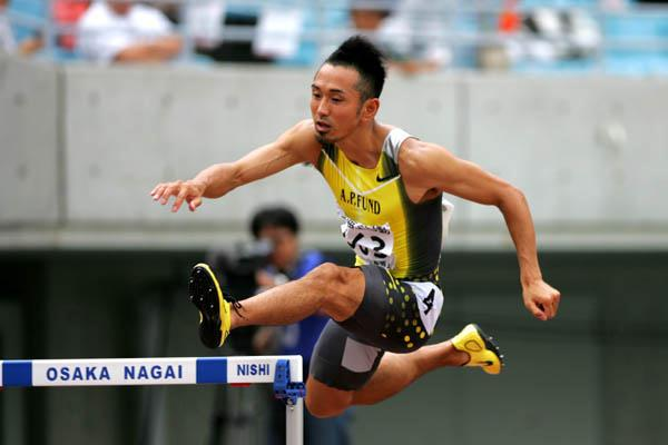 Dai Tamesue on the way to his national title in Osaka (Kazutaka Eguchi/Agence SHOT)