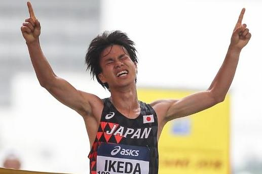Koki Ikeda wins the men's 20km race walk at the IAAF World Race Walking Team Championships Taicang 2018 (Getty Images)