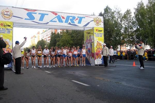 Women's start in Saransk (Alla Glushchenko)