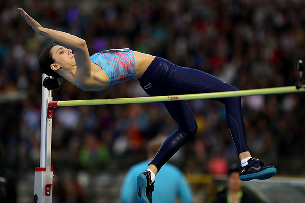 Maria Lasitskene wins the high jump at the IAAF Diamond League final in Brussels (Giancarlo Colombo)