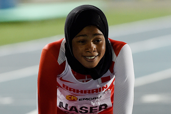 Bahrain's Salwa Eid Naser after winning the 400m (Getty Images)