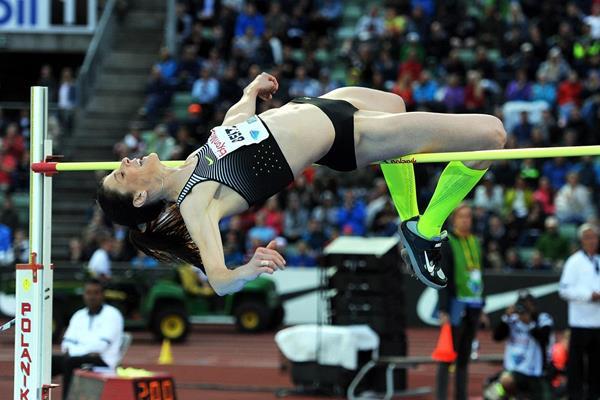 Ruth Beitia at the 2016 IAAF Diamond League meeting in Oslo (Mark Shearman)