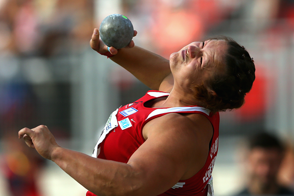 Christina Schwanitz wins the German shot put title (Getty Images)