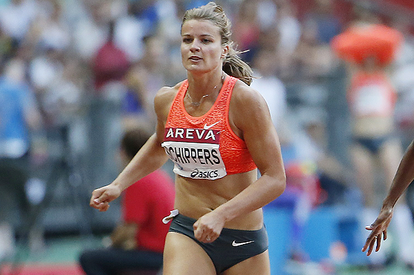 Dafne Schippers in action at the IAAF Diamond League meeting in Paris (AFP / Getty Images)