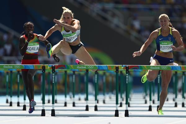 Cindy Roleder in the 100m hurdles at the Rio 2016 Olympic Games (Getty Images)