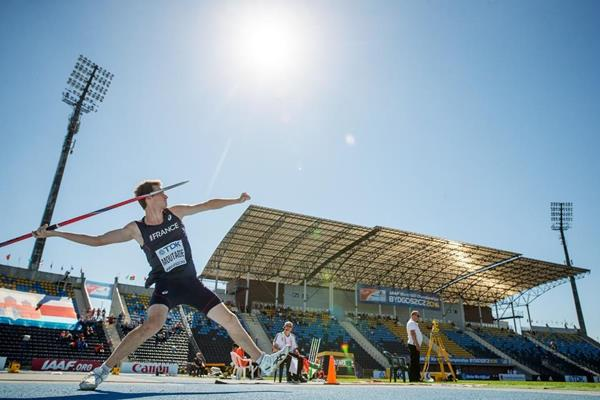 Lukas Moutarde in the javelin at the IAAF World U20 Championships Bydgoszcz 2016 (Getty Images)