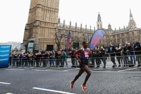 Kenenisa Bekele in the 2016 London Marathon (Getty)