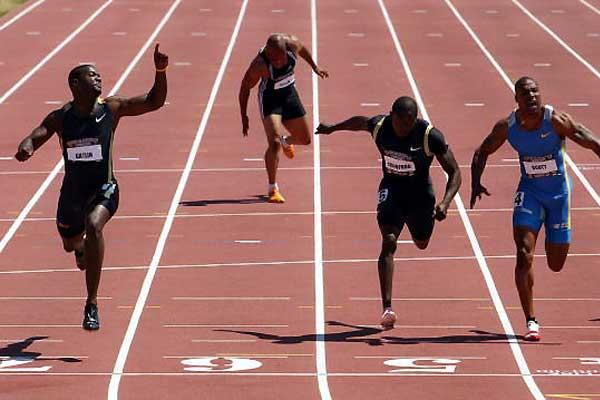Justin Gatlin takes dash - Greene pulls up, and Crawford and Scott fight it out (Getty Images)