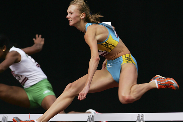 Olga Rypakova in the heptathlon 100m hurdles (Getty Images)