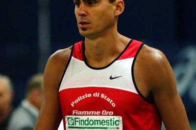 Andrea Longo before the start of the 1500 metres (Lorenzo Sampaolo)