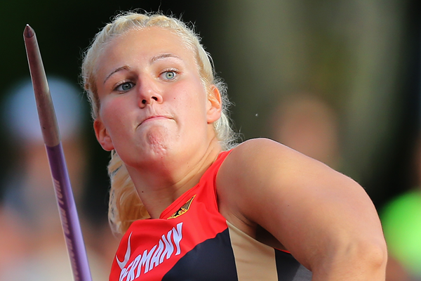 Christin Hussong, winner of the javelin at the European Under-23 Championships in Tallinn (Getty Images)
