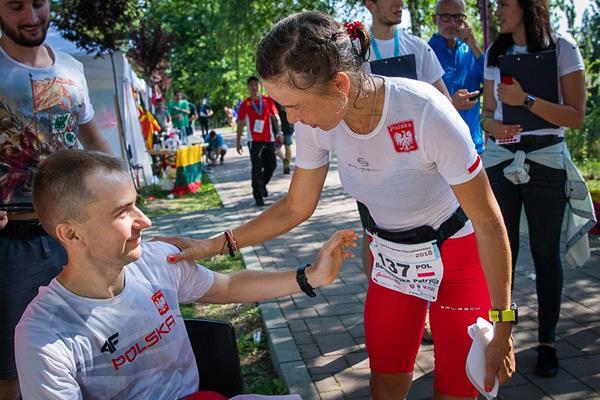 Patrycja Bereznowska and Andrzej Radzikowski at the IAU 24 Hours European Championships in Timisoara (Aneta Mikulska)