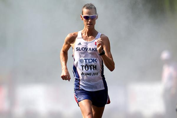 Matej Toth in the 50km race walk at the IAAF World Championships, Beijing 2015 (Getty Images)