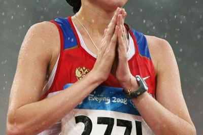 Olga Kaniskina wins the Olympic 20km title (Getty Images)