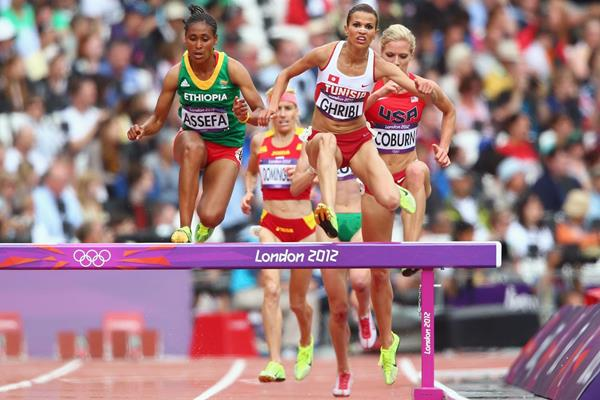 Habiba Ghribi in the steeplechase at the 2012 Olympics in London (Getty Images)