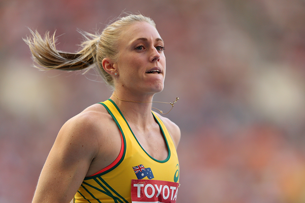 Sally Pearson in the 100m hurdles at the IAAF World Championships (Getty Images)