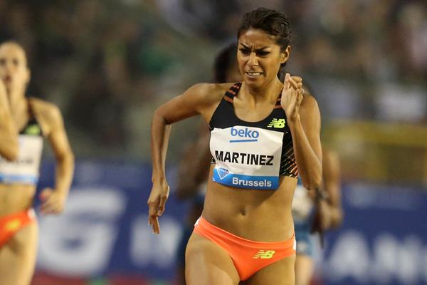 Brenda Martinez winning the 800m at the 2014 IAAF Diamond League final in Brussels (Gladys von der Laage)