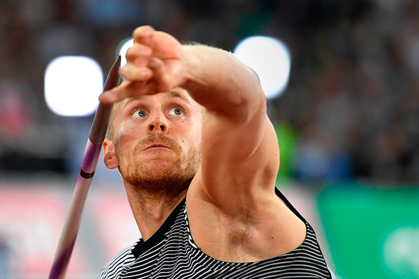 Jakub Vadlejch in the javelin at the IAAF Diamond League meeting in Zurich (AFP / Getty Images)