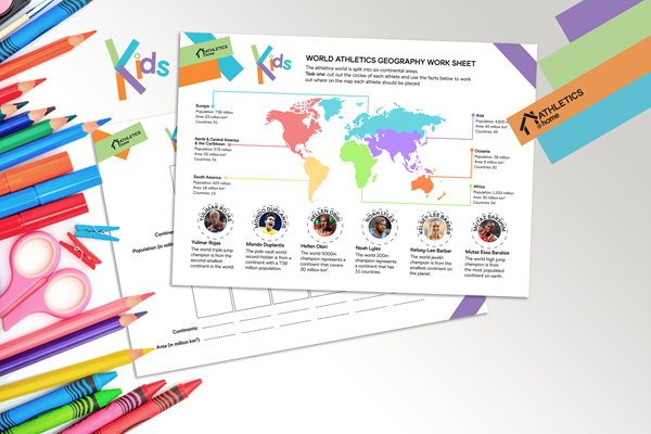 Athletics @ Home - kids geography activity (World Athletics)