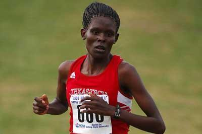 Sally Kipyego - 2007 NCAA XC (Kirby Lee)
