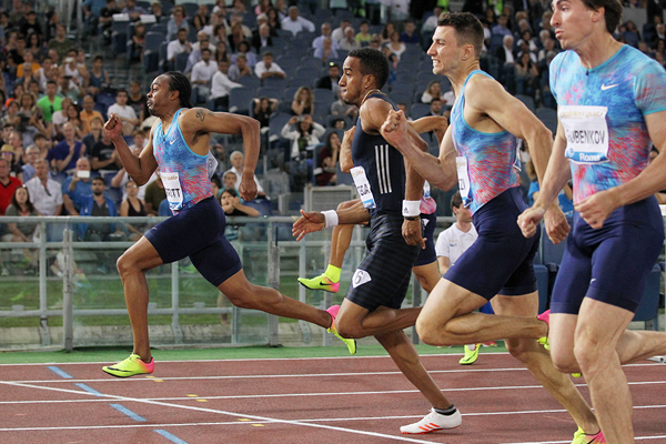 Aries Merritt pulls off the 110m hurdles win at the IAAF Diamond League meeting in Rome (Jean Pierre Durand)