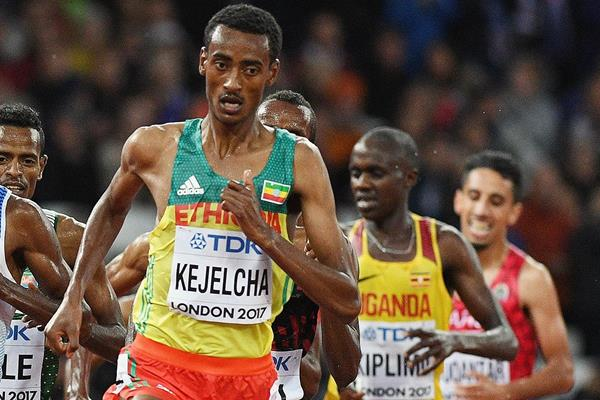 Yomif Kejelcha in action at the IAAF World Championships (Getty Images)